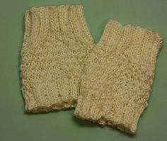 Knit Boot Sock Cuffs - Cream White Cozies Socks