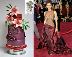 Whimsical / Topsy-Turvy Cakes - Elie Saab fashion inspired cake for The red carpet collaboration