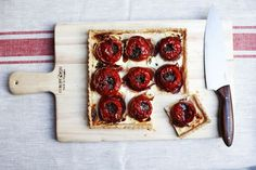 Tomato Tart with Goat Cheese, Quark, Prosciutto, and Gremolata