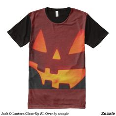 Jack O Lantern Close-Up All Over All-Over-Print T-Shirt