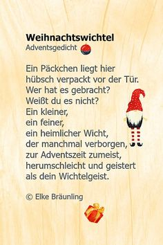 - Page 10 of 234 - Children's stories and poems - Weihnachtsgedichte - Noel Christmas World, Christmas Gnome, Christmas Gifts, Xmas, Christmas Wishes, Merry Christmas, Diy Gifts Last Minute, Diy Gifts For Him, Anniversary Gifts