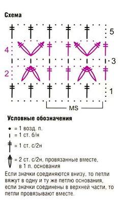 схема вязания узора крючком 3
