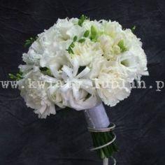 bukiet ślubny z białych kwiatów 1