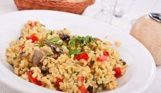 Talianske hubové rizoto s paprikou