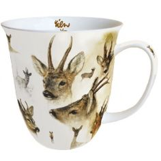 Porzellan Tasse L Portraits Of Deer ⋆ ReWa Floristische Trends Tee Set, Mugs, Tableware, Portraits, Trends, Environment, Glass Bottles, Tumblers, Tea Cups