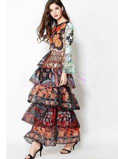 Cheap runway dress, Buy Quality boho maxi dress directly from China maxi dress Suppliers: Luxury Runway Dresses 2018 Women High Quality Long Summer Ruffle Dress Chiffon Flare Sleeve Print Floral Boho Maxi Dresses Vestido Maxi Floral, Boho Floral Maxi Dress, Ruffle Dress, Chiffon Dress, Ruffles, Chiffon Saree, White Chiffon, Floral Dresses, White Maxi
