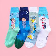 """4,729 Likes, 97 Comments - C o u c o u S u z e t t e (@coucousuzette) on Instagram: """"New «Love Forever» 4 Socks Pack! Spring🌸 Summer🌞 Autumn🍂 Winter❄️ Also sold separated! Comfy…"""""""