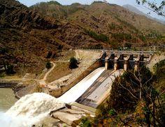 Spillway of Pandoh Dam in Himachal Pradesh, India