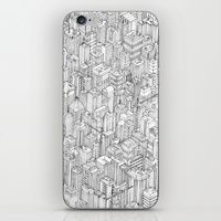 iPhone & iPod Skin featuring Isometric Urbanism pt.1 by Herds Of Birds