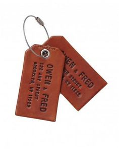 Leather Luggage Tags from owenandfred.com