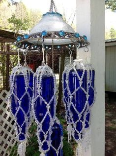 whimsical wind chimes | Cathy-Wilsons-macramed-wine-bottles‎.jpg