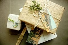crinkled craft paper wrapping - gorgeous packaging by Benign Objects