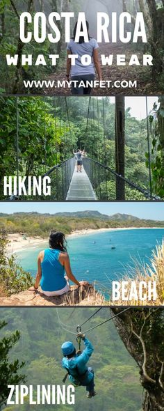 What to wear in Costa Rica for an adventure trip plus essential items to bring. Click through to read: https://mytanfeet.com/about-cr/packing-for-costa-rica-what-to-bring/ Costa Rica | Costa Rica travel tips