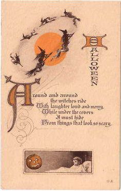 Vintage Halloween Postcard- Nash (ca 1918)