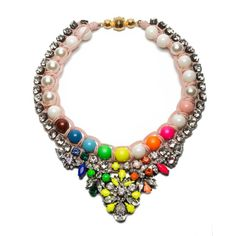 Shourouk Theresa Rainbow Necklace by Benna