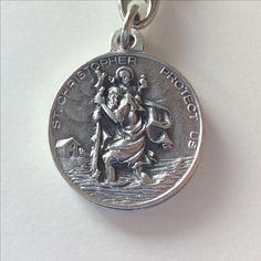 Sleutelhanger St Christopher met op achterzijde Benedetto XVI