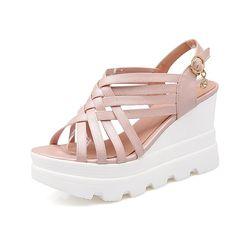 AIWEIYi Womens Summer Fashion Design Ankle Strap Wedge Thong Platform Heel Sandals *** For more information, visit image link.