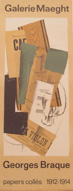 Original Galerie Maeght Georges Braque Exhibition Poster by HodesH, $75.00