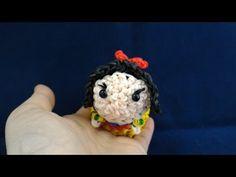 かぎ編みで編む(only hook)ツムツム(TsumTsum)白雪姫(Snow White)レンボールーム(Rainbow loom) - YouTube
