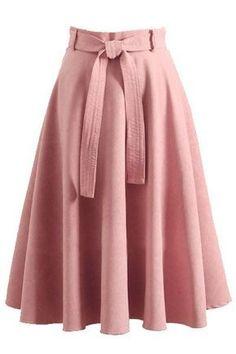 Retro high waist bow belt a-line skirt rock, fashion outfits, womens fashion Modest Fashion, Hijab Fashion, Fashion Dresses, Rock Fashion, Fashion Fashion, Fashion News, Girly Outfits, Mode Outfits, Vestidos Vintage