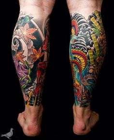 Hottest Calf Tattoo Ideas Tattoo Ideas Gallery Amp Designs 2016 intended for Tattoo On Calf Japanese Leg Tattoo, Japanese Legs, Japanese Tattoo Designs, Japanese Sleeve Tattoos, Mens Body Tattoos, Best Leg Tattoos, Wrist Tattoos For Guys, Body Art Tattoos, Calf Sleeve Tattoo
