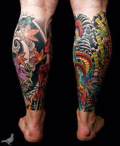 image #320120 - Idée dragon mollet pour se faire tatouer