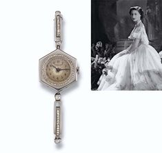 A LADY'S ART DECO DIAMOND WRISTWATCH, BY CARTIER The circular cream dial with Arabic numerals and blued steel hands within a rose-cut diamond border and hexagonal case to the sprung baton link bracelet set with rose and old-cut diamonds, 1911, 16.0 cm. minimum circumference, in later red leather Cartier case
