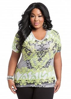Our Status Print Knit Top for Ashley Stewart.