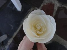 Would be such a romantic gesture if handmade <3 I shall love you until this rose dies<3 red<3 a single paper rose