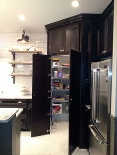Awesome Corner Pantry Dimensions And Kitchen Layouts Google Search Largest Home Design Picture Inspirations Pitcheantrous