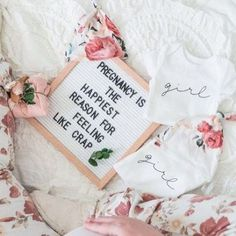Pregnancy and birth announcement idea! Love all the floral for baby girls pregnancy - Pregnancy Quotes, Pregnancy Humor, Pregnancy Tips, Pregnancy Belly, Pregnancy Pillow, Funny Pregnancy Pictures, Baby Bump Pictures, Happy Pregnancy, Pregnancy Nutrition