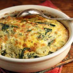 Greek Spinach Artichoke And Feta Egg And Cheese Breakfast Casserole Vegetarian Gluten-Free