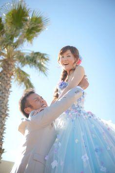 女の子の憧れ。お姫様になったみたい。 ウェディングフォト ブライダルフォト Paseo Bridal http://www.onuki.tv/bridal