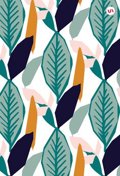 Hello, I would like to introduce to you this new wild collection of 40 Jungle Seamless Vector Patterns! They are all hand drawn patterns with an exotic, tropical, adventurous feel! They are fully editable (through Adobe Illustrator) and you can also easil Wallpaper Background Design, Pattern Wallpaper, Background Patterns, Wallpaper Backgrounds, Backgrounds Free, Trendy Wallpaper, Design Textile, Design Floral, Motif Floral
