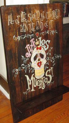 Dia de los Muertos Wall Hanging Shelf
