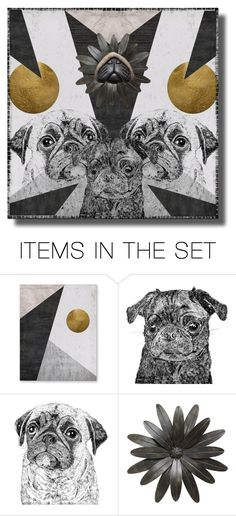 """""""PUG ART"""" by crr-team ❤ liked on Polyvore featuring art"""