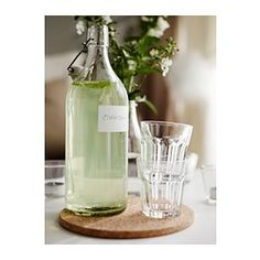Store your homemade salad dressings and juices in a IKEA KORNEN bottle with an airtight lid. It'll keep the contents fresh, and the see-through bottle means you'll have no problem finding them when it's time to pour it.