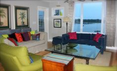 Turn of River Vacation Rental - VRBO 466100 - 3 BR Folly Beach Condo in SC, Sunsets, Dolphins, and on the Water