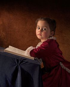 Father photographs his 5-year old daughter in the clothing and settings of Renaissance Dutch, Flemish, and Italian masters - Imgur