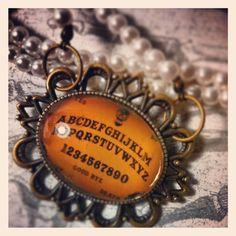 #ouija #necklace buy at www.facebook.com/skullsandstones