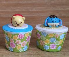 Winnie and eyeore tsum tsum fondant topper