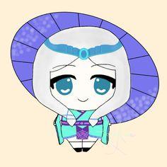Mobile Legends Kagura Chibi Sorry I forgot to put the ribbon behind her >_< Mobile Legends, Smurfs, Avatar, Chibi, Fanart, Ribbon, Kawaii, Artwork, Fictional Characters