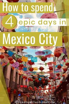 Planning a trip to Mexico City? Check out this complete Mexico City Itinerary - all the best places to visit, things to do in Mexico City, where to stay, food guide | Mexico travel guides and best destinations | International travel | #wanderlust #travel #mexico Travel Guides, Travel Tips, Amazing Destinations, Travel Destinations, Mexico Travel, Romantic Travel, Mexico City, Cool Places To Visit, Traveling By Yourself