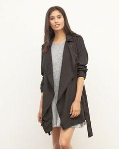 Womens Drapey Trench Coat