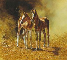horse painting by Bonnie Marris - BEST FRIENDS