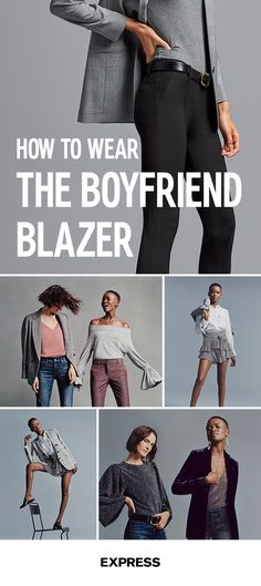 Stride into the office with pride in this season's trending 9 5 look—boyfriend blazers. The oversized fit flatters your profile and they effortlessly pair with any look—skirts, distressed jeans, dress pants—anyway you choose to work it. Shop the collection today at Express.com.