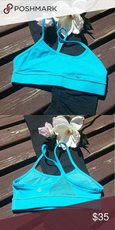 💕Lululemon💕 Flow Y bra Lululemon flow Y bra. Snorkel (blue). Size 2. lululemon athletica Intimates & Sleepwear Bras