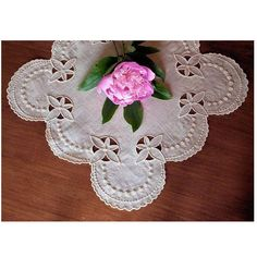 """""""Dorchester"""" This exquisite doily design set, was inspired by a French embroidery book dating from the late 19th century. You'll be proud to use and display this masterpiece in your home. Lovely for gifting too!  #cutwork #doily #machineembroidery"""