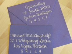 MARCY++Custom+Wedding+Calligraphy+Envelope+by+KoiKalligraphia,+$1.25