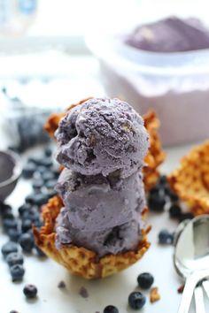 Blueberry butter cookie gelato #summer #food